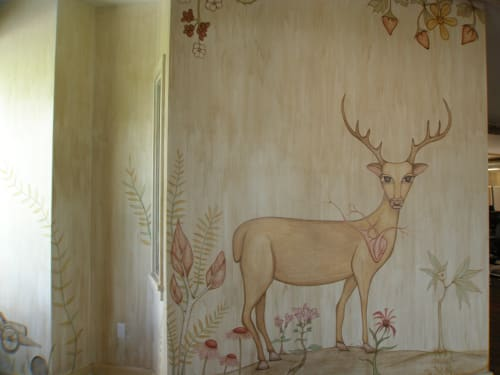 Murals by Ryder Cooley seen at Etsy Office, Hudson NY, Hudson - Biophilia Mural