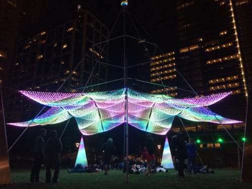 Lighting by Christopher Schardt seen at Discovery Green, Houston - Firmament