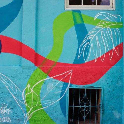Murals by Aracê seen at Ginger House Doces, Vila Luiza - Mural