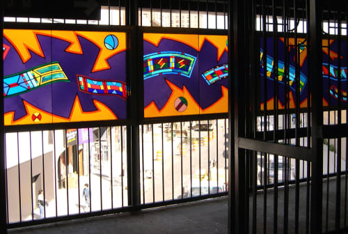 Art & Wall Decor by Robin Holder seen at Flushing Ave Station, Brooklyn - Migration