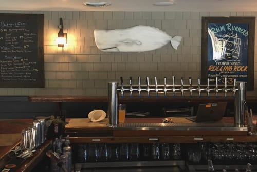 Sculptures by Dave Turner seen at Cleat & Anchor, Dennis - Lord Commander of the Taps Watch