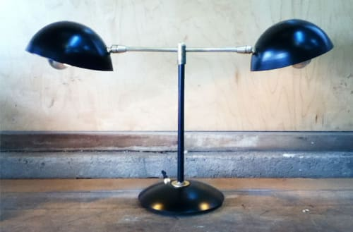 Lighting by Jason Koharik (Collected By) seen at Dropbox Headquarters, San Francisco - Library Desk Lamp