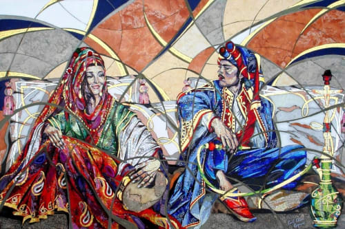 Murals by Carole Choucair Oueijan seen at Private Residence, Kifisia - Layaleena