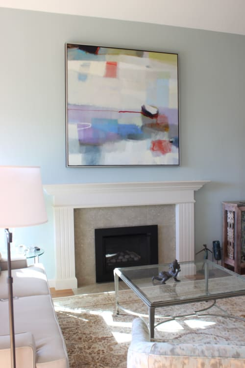 Paintings by Sharon Paster at Private Residence, Sausalito - Offshore