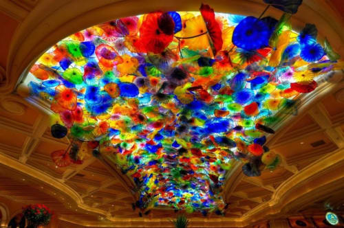 Sculptures by Dale Chihuly seen at Bellagio, Las Vegas - Fiori di Como