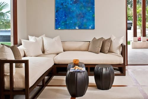 Furniture by Robert Kuo seen at Private Residence, Montecito - 8 Petal Drumstools