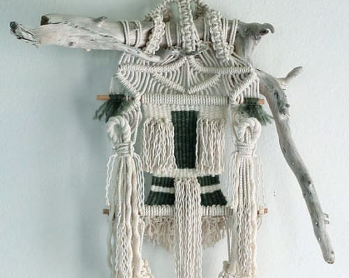 Macrame Wall Hanging by Free Creatures seen at Café Gratitude (Arts District), Los Angeles - Macramé Wall Hangings