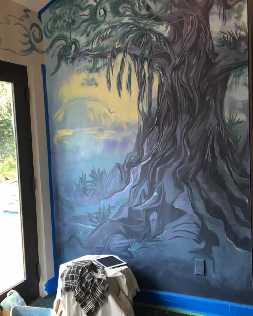 Murals by Careth Christine seen at Private Residence, Sarasota - Florida Scape