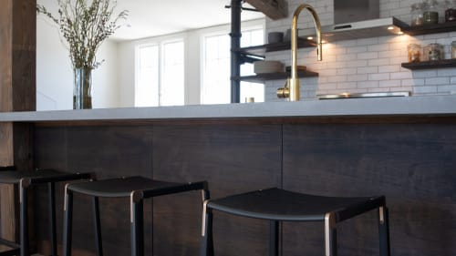 Chairs by Fyrn seen at The Box Factory, San Francisco - De Haro Backless Counter Stool