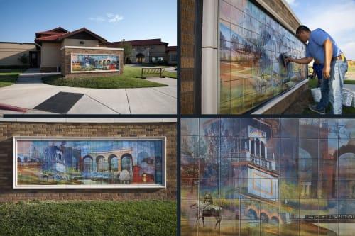 Murals by Counterpoint Studio, LLC seen at Texas Tech University, Lubbock - Bridging Landscapes