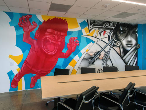 Murals by Hans Haveron seen at The Tower Burbank, Burbank - Mural