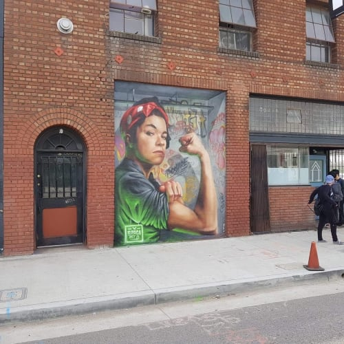 Street Murals by Braga Last1 seen at PodShare DTLA, Los Angeles - Mural