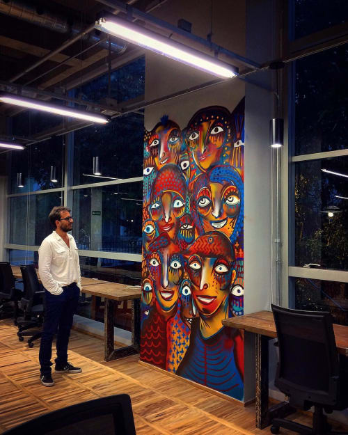 Murals by Guilherme Kramer seen at CIVI-CO | Business Social Impact, Pinheiros - Mural