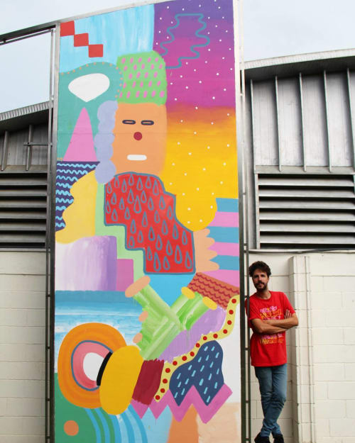 Murals by Zosen seen at Rafael Landivar University, Guatemala City - Murals