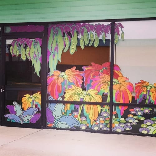 Murals by Elizabeth Gahan seen at Kent Public Health Center, Kent - Dreamscape