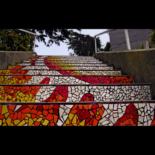 Tiles by Colette Crutcher seen at 16th Avenue Tiled Steps, San Francisco - 16th Avenue Tiled Steps