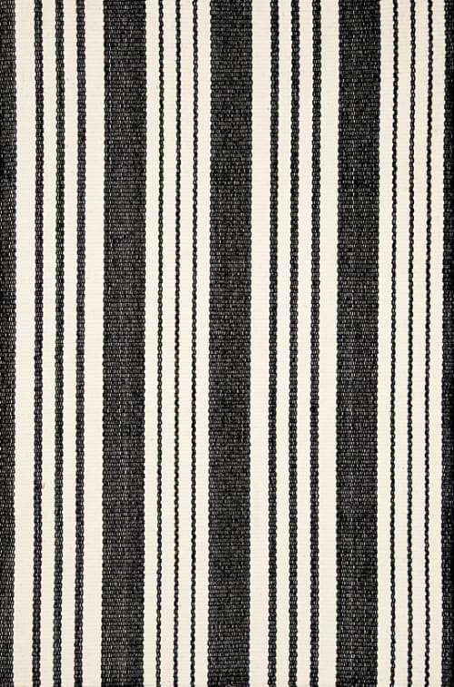 Rugs by Dash & Albert Rug Company seen at American Beech, Greenport - Birmingham Black Woven Cotton Rug