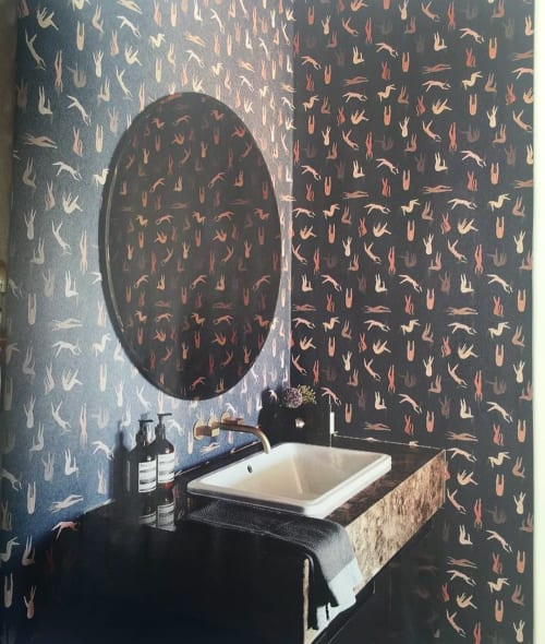 Wallpaper by Laura Berger seen at Hallmark House, Johannesburg - Custom Wallpaper