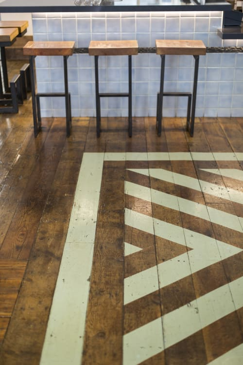Interior Design by Gi Paoletti Design Lab seen at Homage SF, San Francisco - Painted Floor