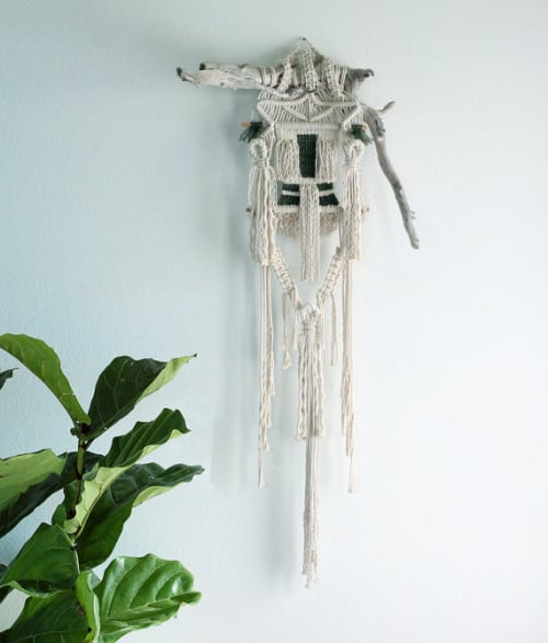 Macrame Wall Hanging by Free Creatures at Café Gratitude (Arts District), Los Angeles - Macramé Wall Hangings