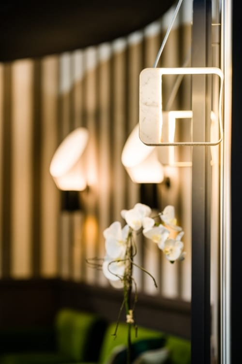 Sconces by Davide Oppizzi (DCube) seen at EquipHotel Paris, Paris - Eau de Lumière Wall Lamp