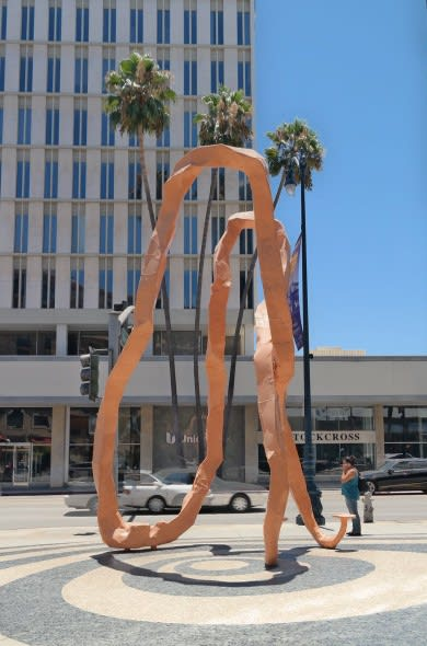 Public Sculptures by Franz West seen at 9465 Wilshire, Beverly Hills - The Unconscious