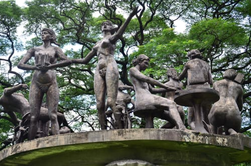 Sculptures by Napoleón Abueva seen at UP Diliman (University of the Philippines Diliman), Quezon City - Nine Muses of the Arts