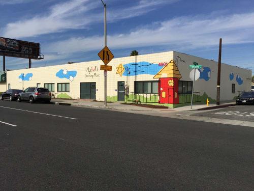 Murals by Amanda Lutz-Beheshti seen at Mychal's Learning Place, Hawthorne - Mychal's Learning Place