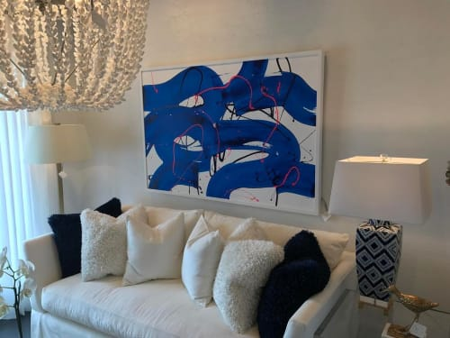 Paintings by Ken Tate seen at Private Residence, Orange Beach - Blue