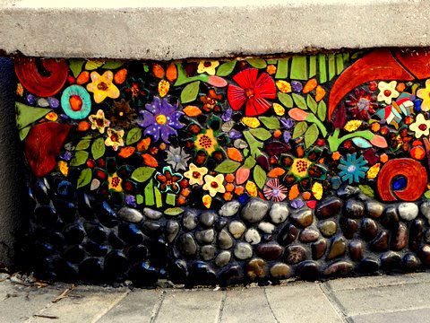 """Street Murals by Juliana Martinez seen at Crossings On 29th Street, Los Angeles - """"Nature's Symphony"""""""