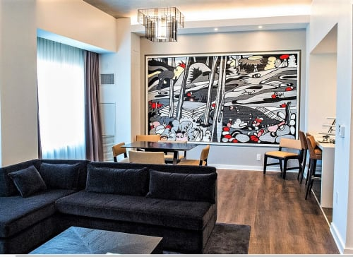 Murals by Sarah Emerson seen at Renaissance Atlanta Airport Gateway Hotel, Atlanta - Acrylic Mural