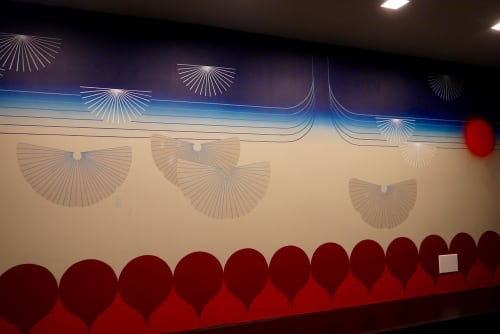 Murals by Kelly Ording seen at The Kimpton Buchanan, San Francisco - Japantown Inspired Mural