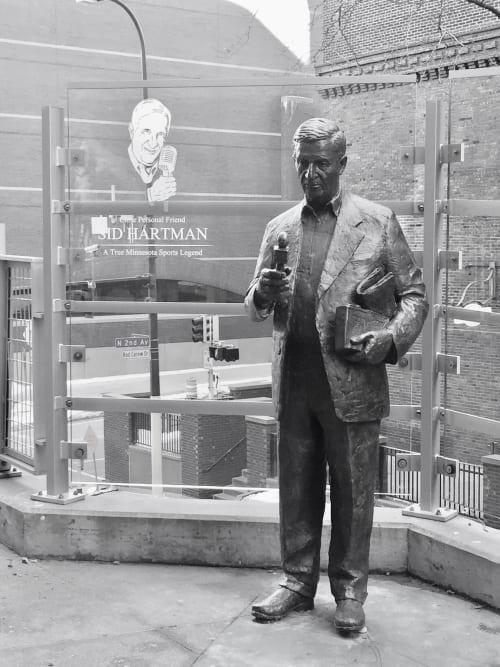 Sculptures by Nicholas Legeros seen at Target Field, Minneapolis, MN, Minneapolis - Sid Hartman