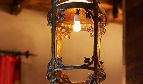 Lighting by Julian Schnabel seen at Gramercy Park Hotel, New York - Baroque Lantern