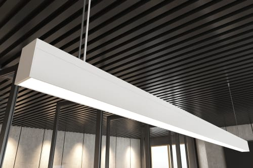 Pendants by Artefact Industries seen at TSA Management, Melbourne - 40/70 Linear Pendant