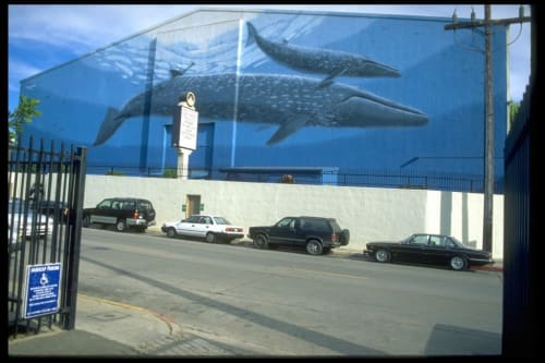 Murals by Wyland seen at Paramount Studios, Gower St. at Willoughby Ave., Los Angeles, CA, Los Angeles - Whaling Wall Number 63