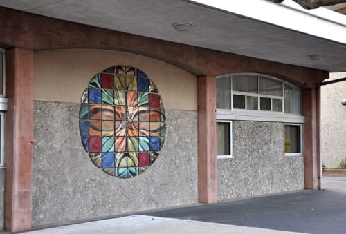 Murals by Natalie Blake Studios seen at Chabot College, Hayward - Mandala