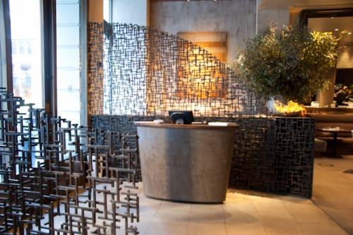 Furniture by Wyatt Studio seen at Michael Mina SF, San Francisco - Custom Made Entry Walls