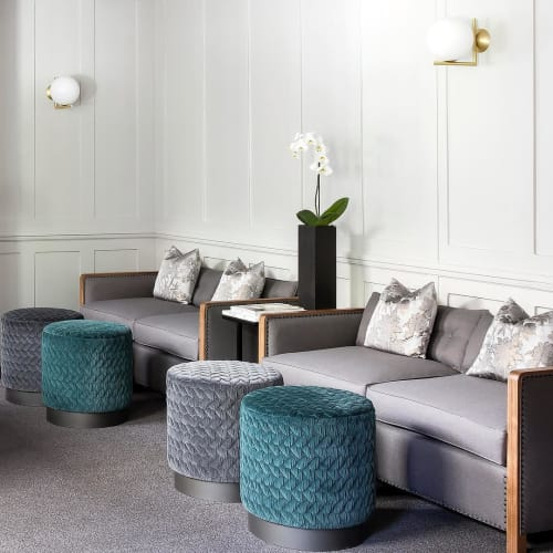 Couches & Sofas by Casa Botelho seen at 1 Hare Court Chambers, London - Bacco Sofa with Diana Pouf