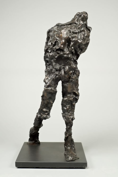 Sculptures by Maurice Blik seen at Sculpt Gallery, Tiptree - Striding Monumental