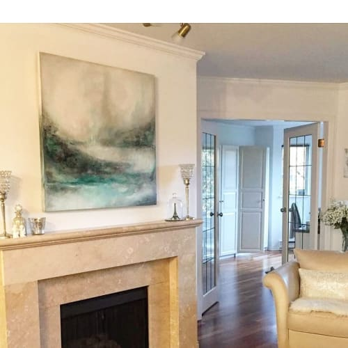 Paintings by Donna Giraud seen at Private Residence, Vancouver - Abstract Painting