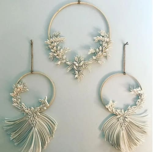 Macrame Wall Hanging by Griffin Carrick Design seen at Firehouse, Chicago - Quilled Hoops
