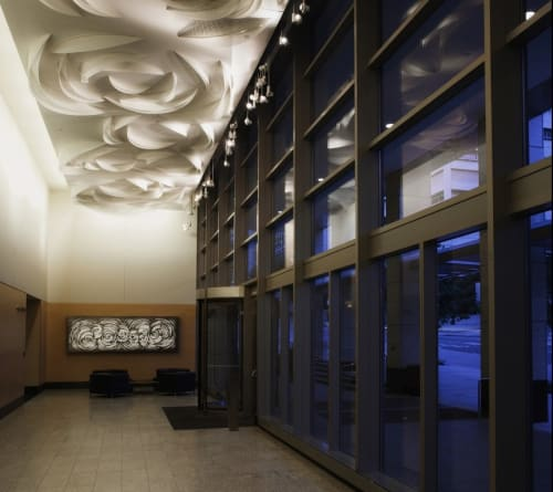 Sculptures by Anna Valentina Murch seen at King County Chinook Building, Seattle - Confluences