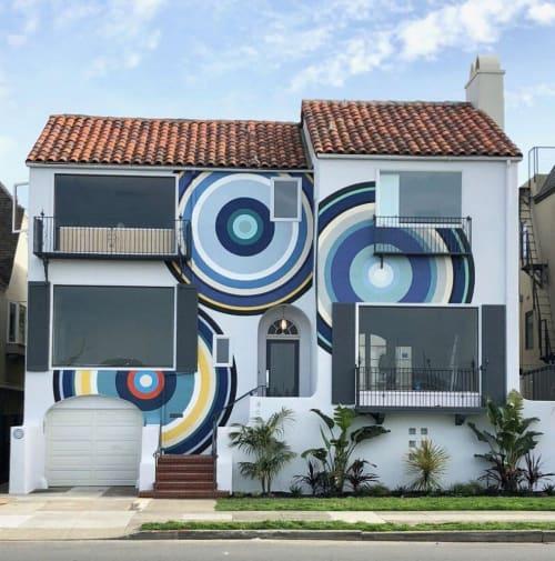 Murals by A.J. Oishi seen at SF Decorator Showcase 2018, San Francisco - Mural Facade