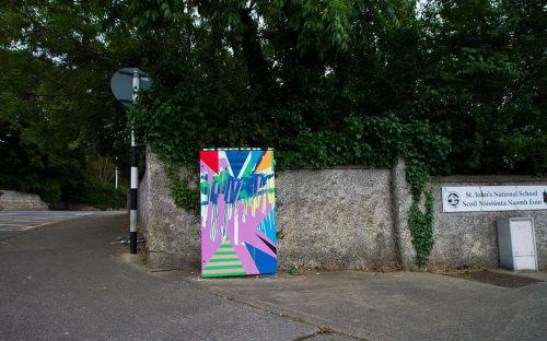 Street Murals by Clare OConnor seen at ST JOHNS N S, Ballybrack - Moxie