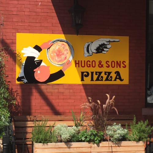Signage by Mark Turgeon seen at Hugo & Sons, Brooklyn - Interior & Exterior Signages