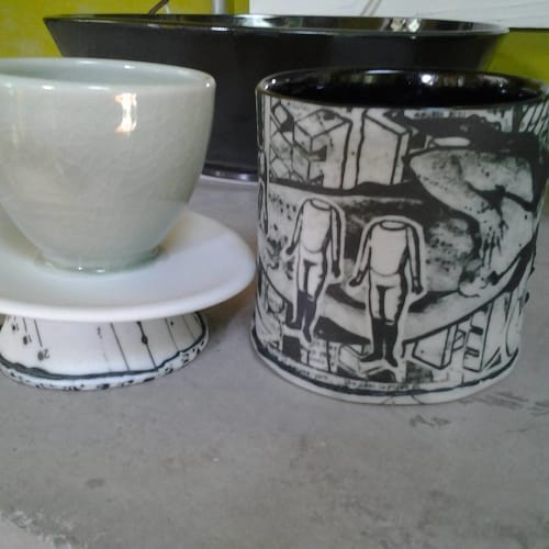 Tableware by Mimi Logothetis Porcelain seen at The Durham Hotel, Durham - Porcelain Eggcups