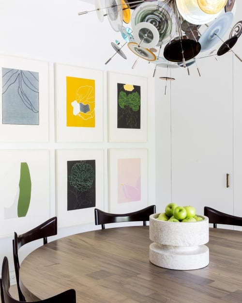 Chandeliers by Avram Rusu Studio seen at Private Residence, Austin - Confetti Glass Chandelier