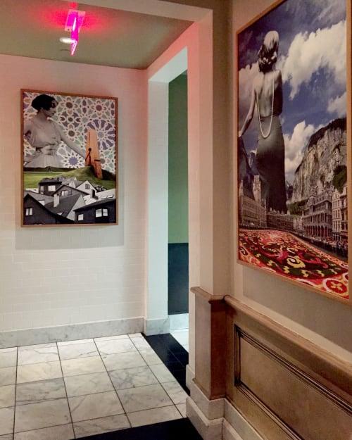 Paintings by Melissa Wagner seen at Belga, San Francisco - Collage Artwork