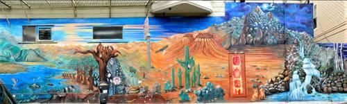 Street Murals by Catalina Gonzalez seen at 23rd Street, Mission District, San Francisco - In lak'ech